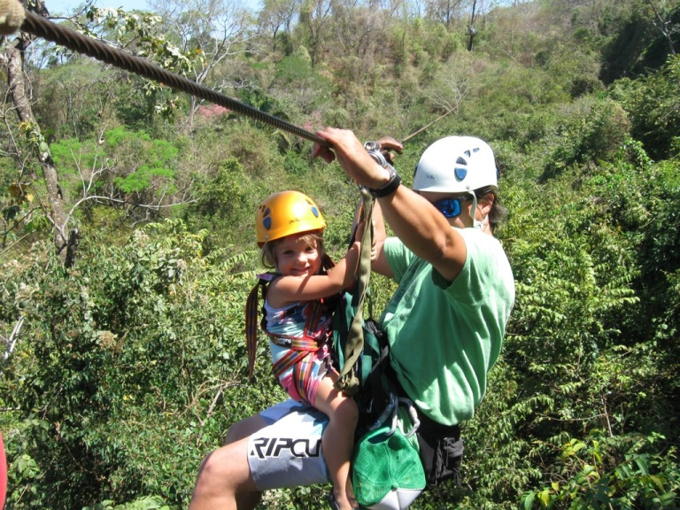 zip line canopy tour in mal pais costa rica