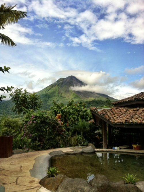 View of Arenal Volcano on a clear day